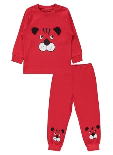 Civil Boys Erkek Çocuk Pijama Takımı Kırmızı